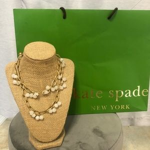 - Kate Spade ♠️ Gold-Tone Necklace w/ Crystal